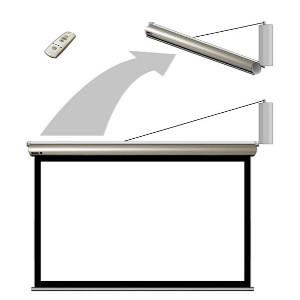 Suporţi motorizaţi pentru ecrane de proiecţie