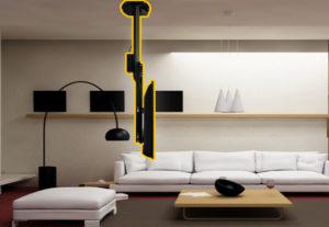Televizor ascuns în tavan